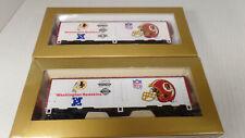 2-MANTUA HO SCALE 1991,  Washington Redskins, NFL SUPER BOWL BOX CARS