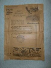 USSR 1945 Capture LODZ, Radom Poland. Red Army Thanksgiven Document with STALIN