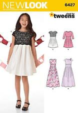 NEW LOOK SEWING PATTERN TWEENS PARTY DRESS  SIZES 8 - 16  6427
