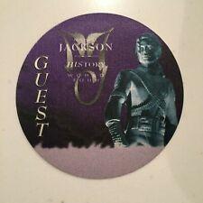HISTORY TOUR GUEST BACKSTAGE PASS - MINT - PURPLE - MICHAEL JACKSON