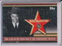 2011 Topps American Pie Hollywood  Walk of Fame Star Patch Duke Ellington 40/50