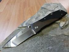 "Kizer Tanto Folding Knife AUS-8 Blade Black G10 & Titanium Handle EDC 8"" 303"