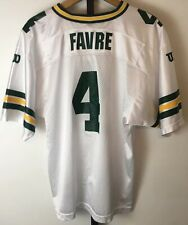 Vintage 90s Wilson Brett Favre #4 Green Bay Packers Jersey Youth L 14/16 White
