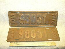 1922  South Dakota  License Plates - Pair