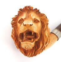 ".STUNNING / ANTIQUE ""LIONS HEAD"" MEERSCHAUM PIPE."