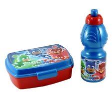 PJ MASKS Set 2 pz Pranzo BOX PORTA MERENDA + BORRACCIA Super Pigiamini lunch box