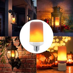 Fire Flame LED Light Bulb Flicker Burning Effect E27 Classic Vintage Decor Lamp