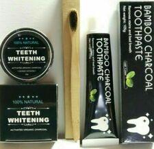 Natural Organic Black Charcoal Teeth Whitening Powder +1Toothpaste +1Toothbrush