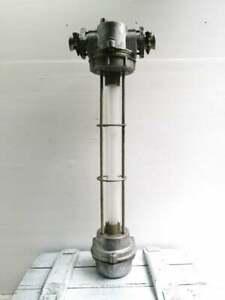 Vntg Industrial Fluorescent Explosion Proof Pendant Steampunk Lamp Made in USSR.