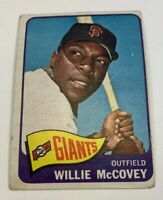 1965 Topps # 176 Willie McCovey Baseball Card San Francisco Giants SF HOF