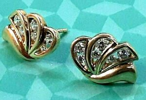 Solid 14k Yellow Gold and CZ Earrings - All Proceeds go to CHARITY