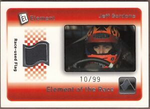 RARE 2009 Element JEFF GORDON Race-Used BLACK Flag ERB-JG; Ser# 10/99 WOW!
