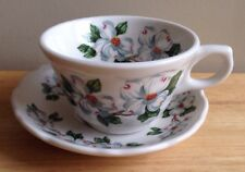 1984 Dogwood Pattern Restaurant Ware Coffee Cup And Saucer, Hotel Roanoke
