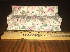 Dollhouse Miniatures Floral Couch