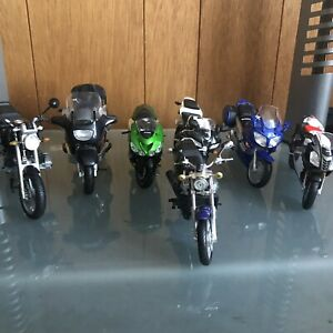 Honda BMW Kawasaki Aprilia Mini Motorcycles lot of 7 model toys