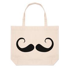 Imperial bigote grande Bolsón Bolso De Playa-Hombres Hipster Barba Gracioso hombro