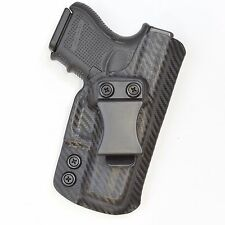 Badger State Holsters- Glock 26/27 IWB Carbon Fiber Custom Kydex Holster G26 G27