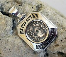 GOD APOLLO GREEK COIN NORMAL SIZE PENDANT SOLID STERLING SILVER 925 CODE 17