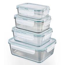 Frischhaltedosen Klick-it 8tlg. Glas Brotdose Lunchbox Aufbewahrung Mikrowelle