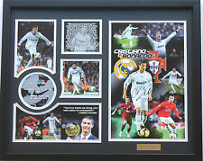 New Cristiano Ronaldo Signed Real Madrid Limited Edition Memorabilia Framed