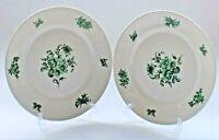Vintage Rosenthal Plate Set of 2 - Bahnhof Selb Aida Green Floral 25cm diameter