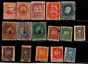 Mexico Large Revenue Stamp Collection - Very Nice - See all Scans!