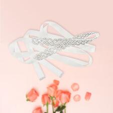 Bridal Sash Bride Wedding Rhinstone Crystal Dress Belt With Satin Ribbon Gift