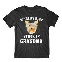 World's Best Yorkie Grandma Dog Graphic T-Shirt