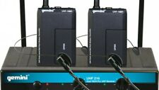 NEW GEMINI DUAL WIRELESS HEADSET MICROPHONE SYSTEM MODEL UHF-216HL
