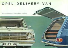 Opel Rekord B Delivery Van 1.5 & 1.7 1964 English original Sales Brochure