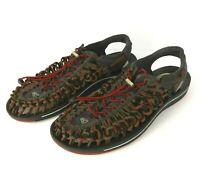 Keen Uneek Sandals Size 13 Gray Red Dahlia 1014620 Watersport Hiking Outdoor