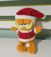 WHITMANS GARFIELD IN SANTA OUTFIT TOY PLUSH GARFIELD 90S CHARACTER TOY! 19CM!
