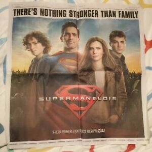 Huge LOIS & SUPERMAN Daily Planet Newspaper Promo Display CW TV Premiere AD !!!!
