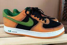03 Nike Air Force 1 Carnival Orange flash green black white sz 11  307334-831