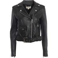 Michael Michael Kors Women's Black Leather Moto Jacket