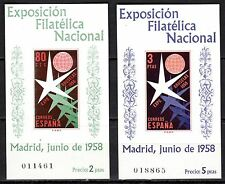 Spain - 1958 Expo Brussels - Mi. Bl. 13-14 MNH