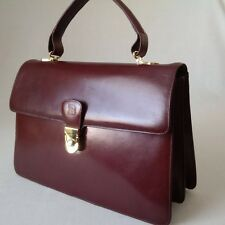 BALLY KELLY STYLE TOP QUALITY CALF LEATHER HANDBAG BURGUNDY MADE IN ITALY