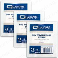 15 HIGHLY ABSORBENT NON WOVEN STERILE MEDICAL SWABS Gauze First Aid Kit Clean