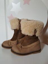 Chaussures à zip en cuir pour bébé