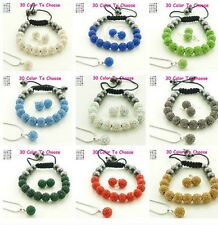 9set/lot 10mm mixed hot crystal shamballa set earring necklace pendant bracelet