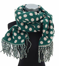 Bufanda Beige Verde Lunares Pañuelo mujer Ella Jonte otoño invierno NEW EN
