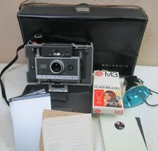 Vintage Polaroid Automatic 340 Land Camera, Case, Flash Attachment