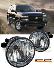 2004-2006 Chevy Suburban Tahoe Z71 Clear Replacement Fog Lights Housing PAIR