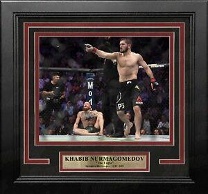 "Khabib Nurmagomedov Crushes McGregor 8"" x 10"" Framed Mixed Martial Arts Photo"