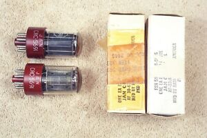 Two, NEW, RCA JAN-CRC-5691, red base, military, match pr, hi reliability, 6SL7GT
