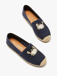 NEW Kate Spade beach date espadrilles Crab,NWT $98 , Size 9 US