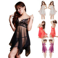 Erotic Sexy Pajamas Nightdress Nightgown Babydoll Nightie Lingerie Costumes Nd