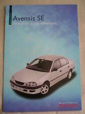 Toyota Avensis SE range brochure Jul 1999