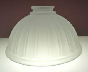 Vintage Frosted Glass Ribbed Pattern Replacement Shade