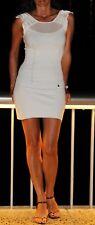 KAREN MILLEN black hourglass bodycon silk zip back mini dress 2 UK 10 RRP £145